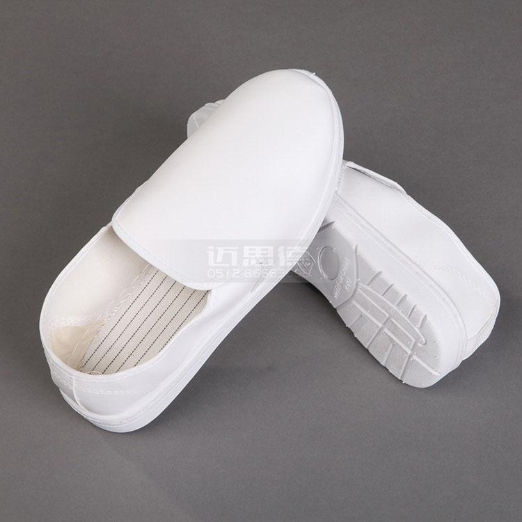 PU纯白中巾鞋