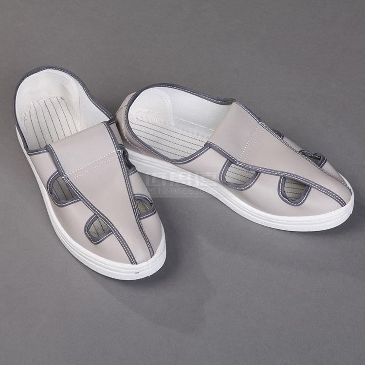浅灰四眼鞋